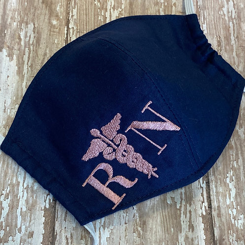 Embroidered RN Face Mask