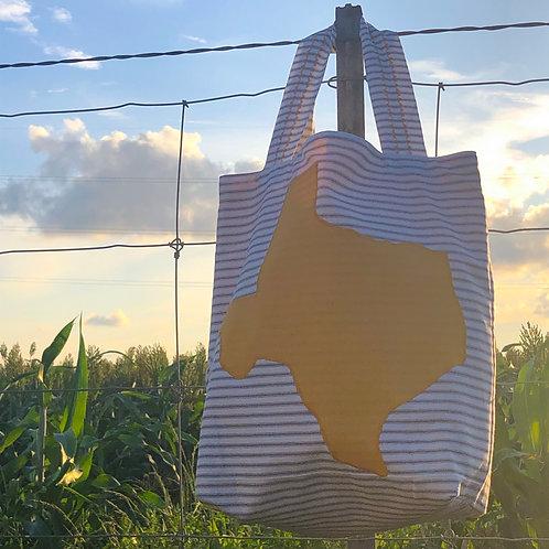 Yellow Dot Texas Love Tote