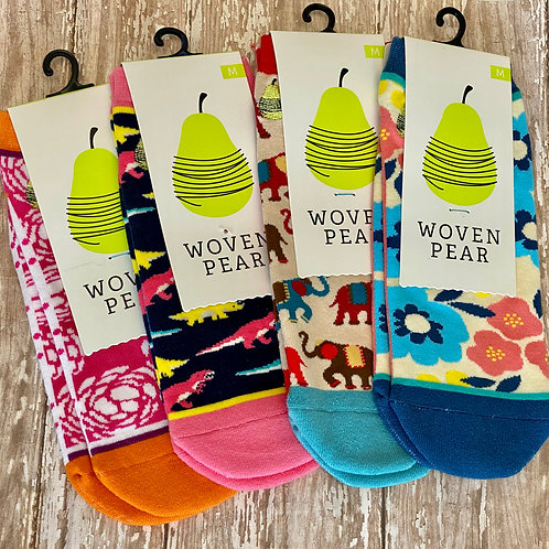 Woven Pear Ankle Socks
