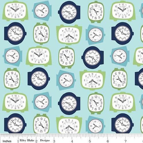 Retro Clocks Fabric