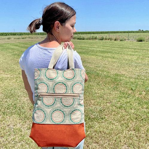 Backpack in Orange Rays