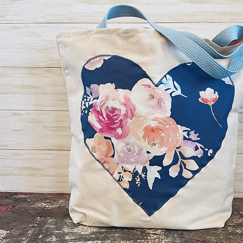 Heart Tote in Floral