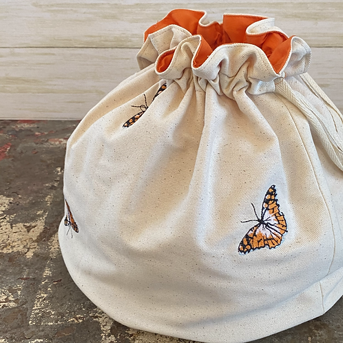 Embroidered Ditty Bag in Butterfly