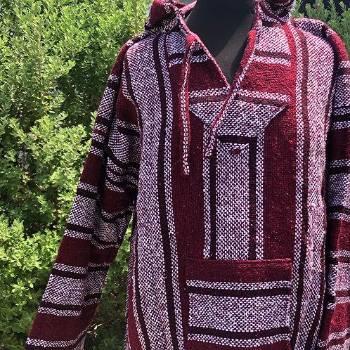 Maroon Baja Pullover - XLarge