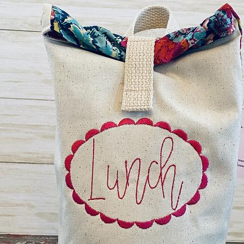 Boho Floral Lunch Bag