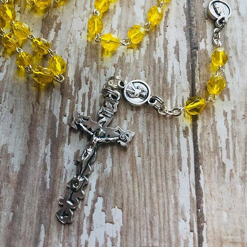 Yellow Bead Rosary