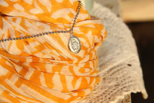 Sterling Miraculous Medal Necklace