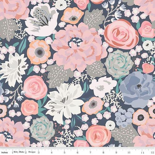 Edie Jane Navy Floral Fabric