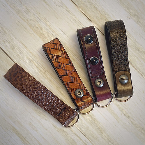Textured Leather Key Fob