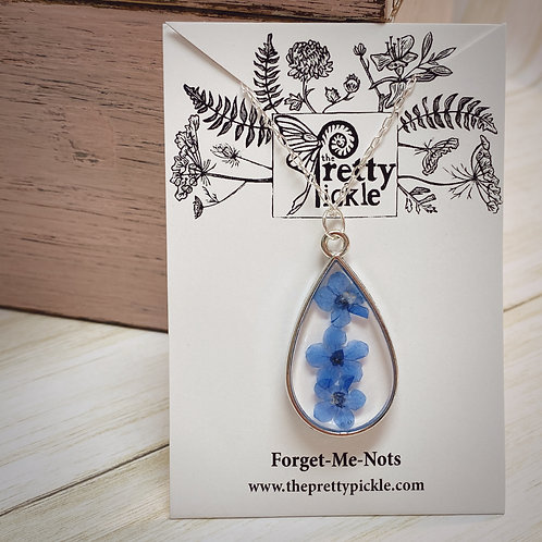Forget Me Not Flower Necklace