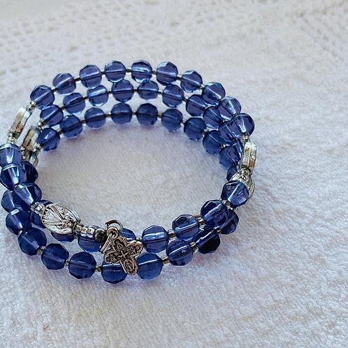 Rosary Bracelet in Purple Stone