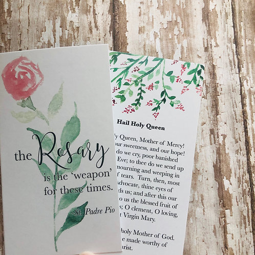 Rosary Prayer Card