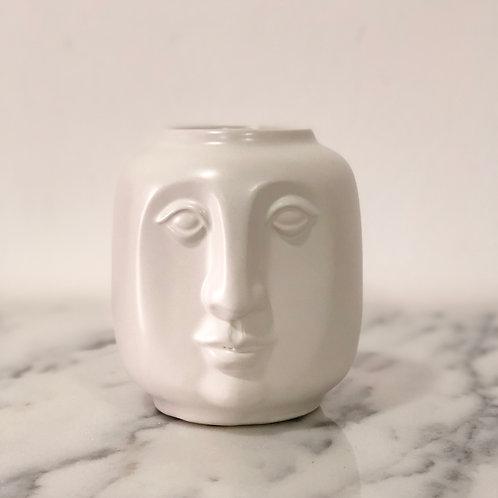 Jarrón mediano de cerámica - Rostro