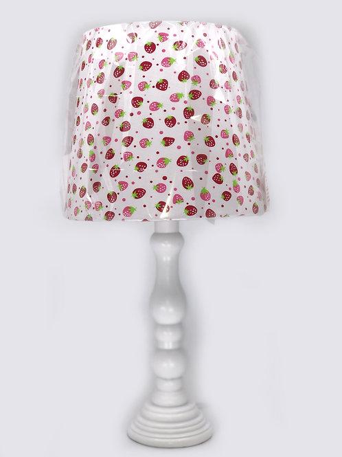 Lámpara de mesa – Poliresina con Patrón de Frutillas