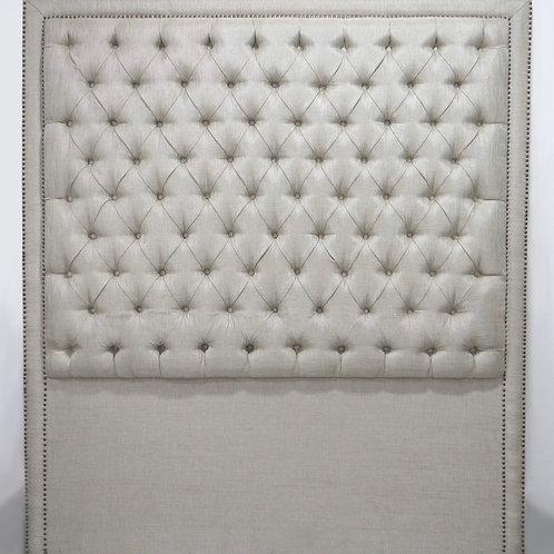 Respaldar de cama capitoneado color beige
