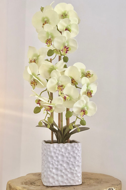 Orchid holes vase - Breeze white