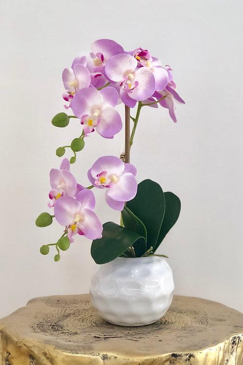 Orchid holes sphere vase - purple