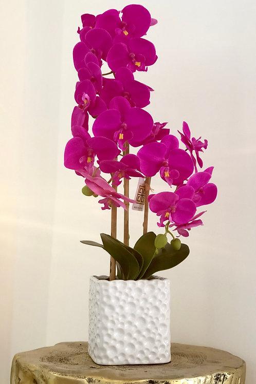 Orchid holes vase - Dark pink