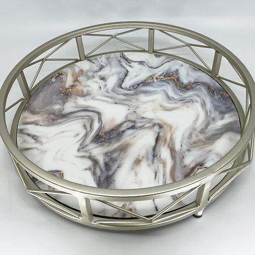 Bandeja grande apariencia de mármol