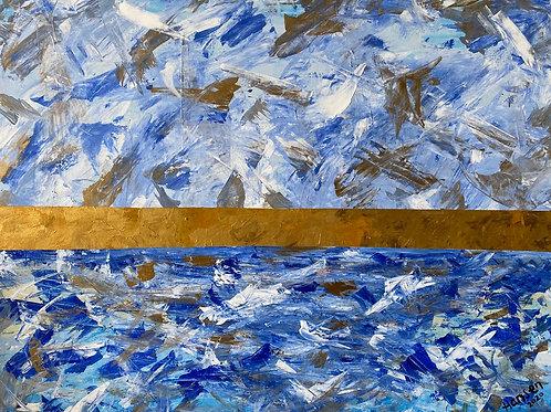 Cuadro Abstracto con Pintura Acrílica