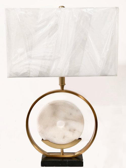 Lámpara de mesa – Metal y Mármol Blanco