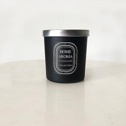 Vela perfumada con envase negro