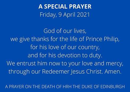 A SPECIAL PRAYER Friday, 9 April 2021 Go