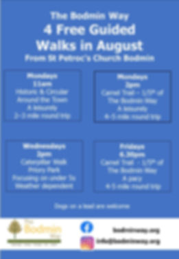 All 4 Walks in August in 1 poster Blue A
