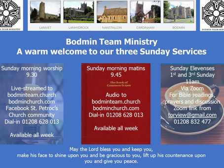 Three Sunday morning services