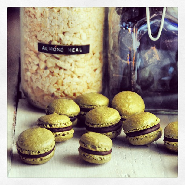 Matcha macarons went up on the blog today!