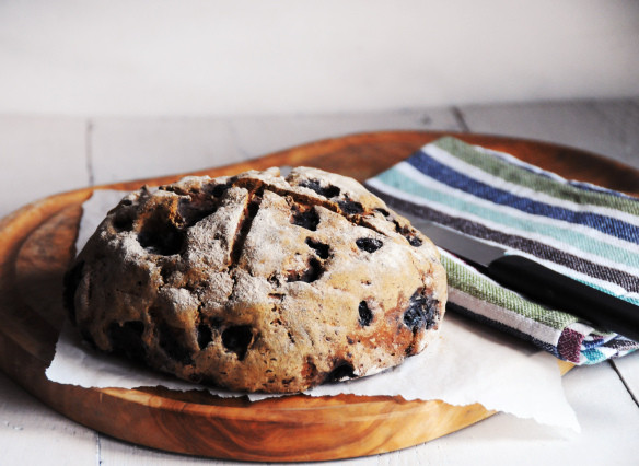 gluten free blueberry buckwheat & oat loaf