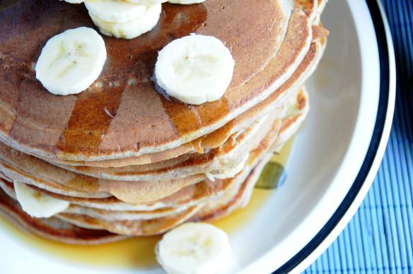gluten free banana buttermilk pancakes