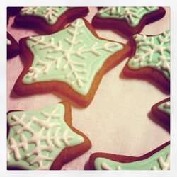 #piped #star #cookies