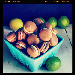 Lime, dark rum & chocolate macarons up on the blog today