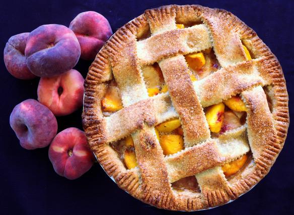 Double crust peach pie - gluten free