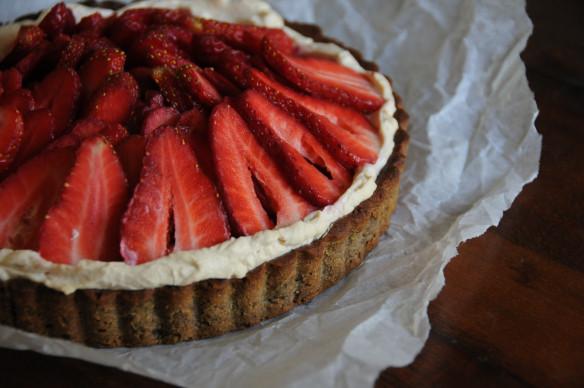 Strawberry, Pistachio & Mascarpone Tart