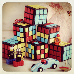 Rubic's Cube Cookies, Gluten-free