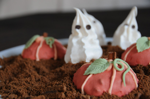 Ghost Meringues & Pumpkin Patch cookies - Gluten Free