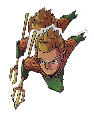 Chibi Aquaman Sticker