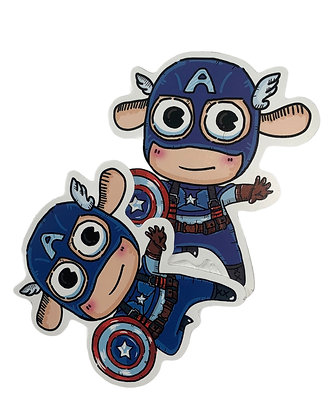 """Baby Chibi""  Captain America Sticker"