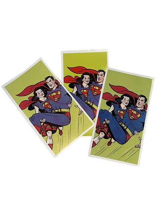 Superwoman Saving Superman Sticker