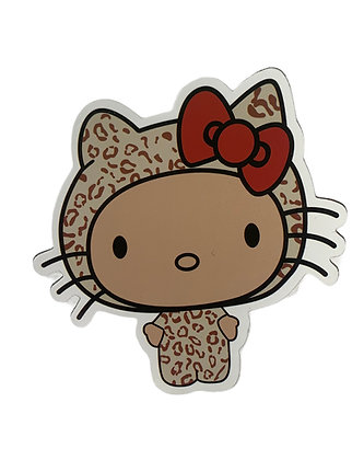 Hello Kitty Cheetah Costume Sticker