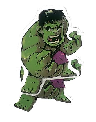 Chibi Hulk Sticker