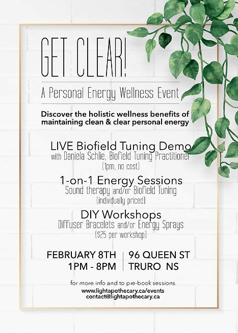 Get Clear! Personal Energy Wellness Event
