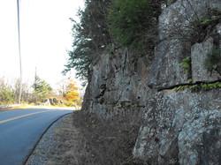 Road cut, Putnam Center Road