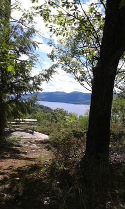 Gull Bay Preserve trail end.