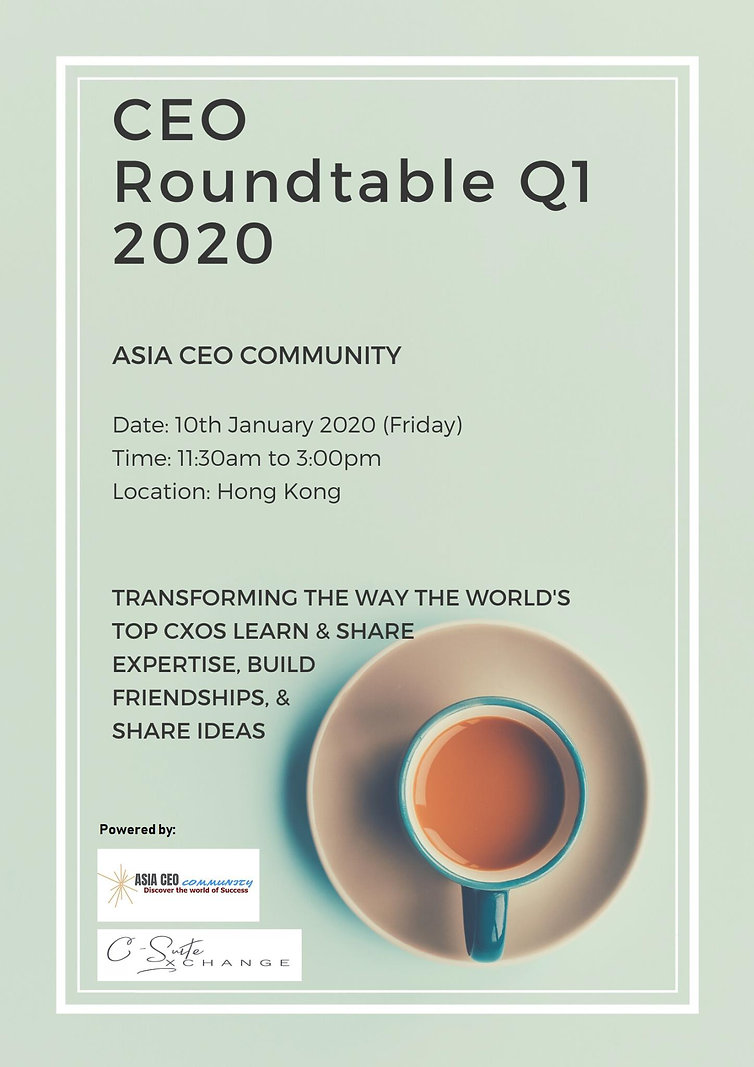 CEO ROUNDTABLE Q1 2020