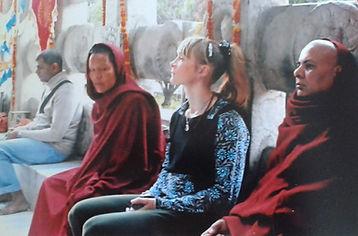Tara Leyden at Mahabodhi Temple