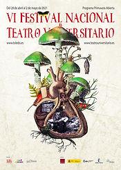 Festival VI Nacional de Teatro Universitario, ilustración de Alicia Meléndez