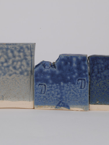 ^6 Cobalt Carbonate Line Test with Vanadium Pentoxide with Crystalline Matte Surface